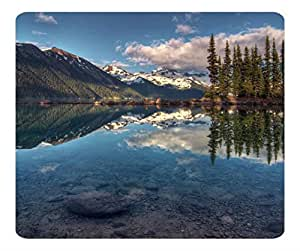 Decorative Mouse Pad Art Print Landscape and Plants Clear Lake Water