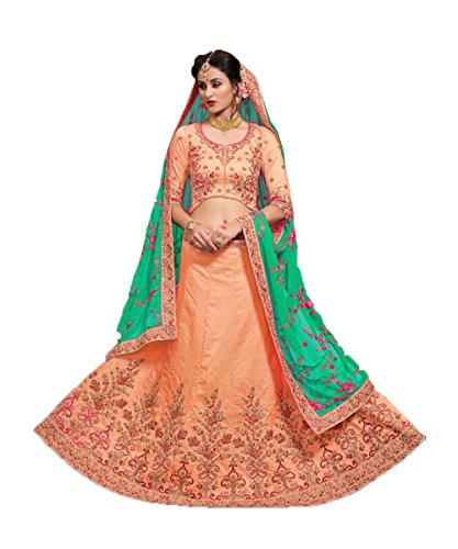 Da Facioun Concepteur Indien Partywear Lehenga Traditionnel Ethnique Orange Choli