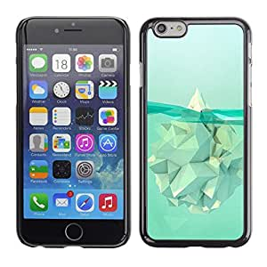 LECELL--Funda protectora / Cubierta / Piel For Apple iPhone 6 -- Iceberg Meaning Warming Polygon --