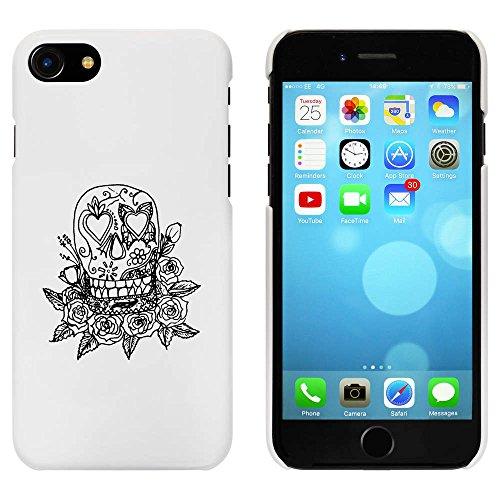 Blanc 'Crâne sur les Roses' étui / housse pour iPhone 7 (MC00061384)