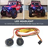 RC LED Light kit Headlights Angel Eyes with 12 Modes for 1/10 RC Rock Crawler Axial SCX10 RC4WD Traxxas TRX-4 Cars Accessories