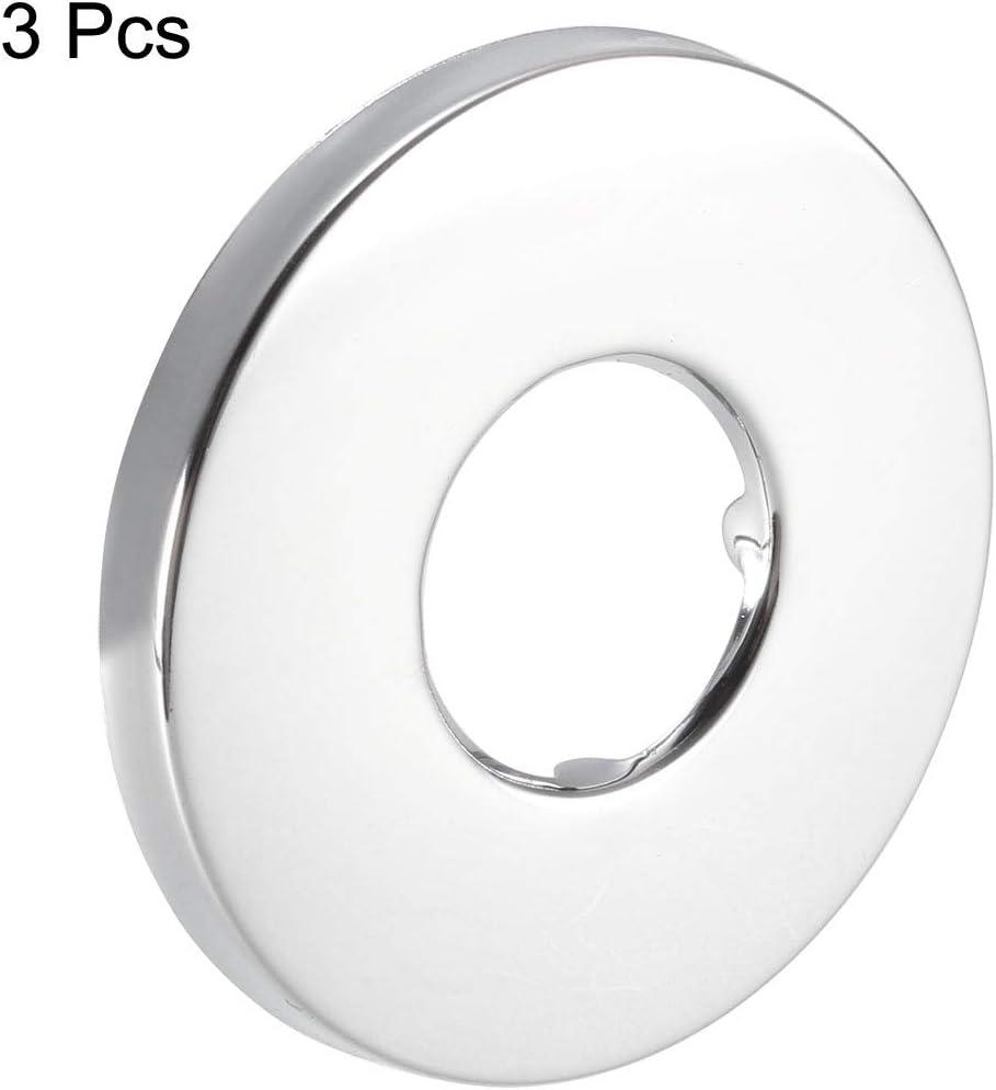 Sourcingmap Piastra tonda in acciaio INOX 3 pezzi 52 x 5 mm per tubi di diametro 21 mm