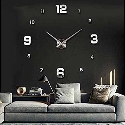 Large Diy Quartz 3d Wall Clock Living Room Big Acrylic Watch Mirror  Stickers Modern Design Home Decor