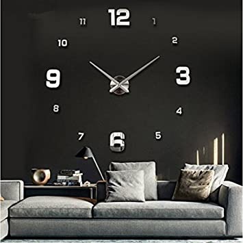 Large Diy Quartz 3d Wall Clock Living Room Big Acrylic Watch Mirror  Stickers Modern Design Home
