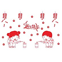 New Year Decoration Chinese New Year Glass Window Wall Stickers Decal