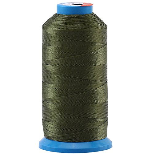 Selric [1500 Yards/Coated/No Unravel Guarantee/21 Colors Available] Heavy Duty Bonded Nylon Threads #69 T70 Size 210D/3 for Upholstery, Leather, Vinyl, and Other Heavy Fabric (Army Green)
