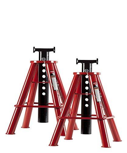 (Sunex 1310 10-Ton Medium Height Pin Type Jack Stands, Pair)