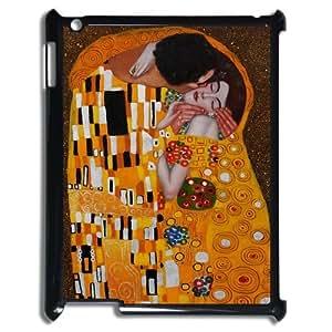 Personalized The Kiss By Gustav Klimt Ipad 2/3/4 Case Gustav Klimt Ipad Cover Plastic Orange