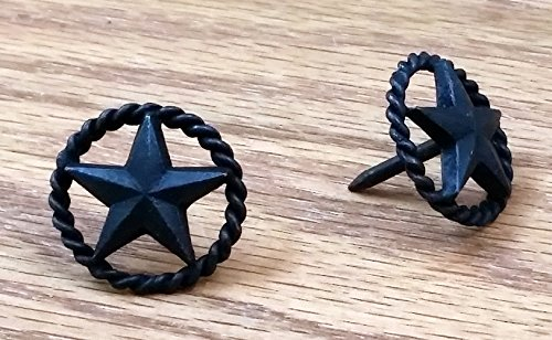 6 Pack of Star Clavos with rope edge, 1'' diameter (Oil rubbed bronze finish)