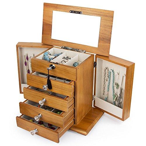(Kendal Real Natural Hardwood Wooden Jewelry Box (3-ZH-WJC5AK))