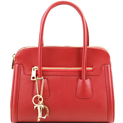Tuscany Leather TL Keyluck Soft leather handbag Red by Tuscany Leather