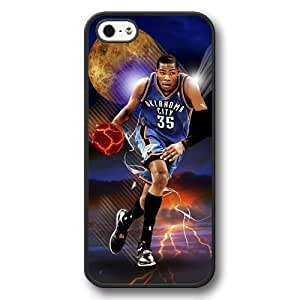 Onelee(TM) - Customized Personalized Black Hard Plastic iPhone 5/5S Case, NBA Superstar Oklahoma City Thunder Kevin Durant iPhone 5/5S Case, Only Fit iPhone 5/5S Case by mcsharks
