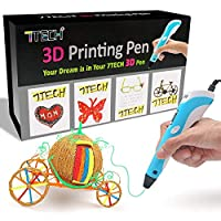 3D Pen, 7TECH 3D Printing Drawing Printer Pen w/LCD Screen Free 280 Stencil eBook Bonus Filament Refills for 3D Art Craft Models DIY Design Perfect Gift by 7TECH