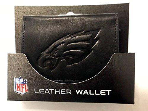Rico Philadelphia Eagles NFL Embossed Logo Black Leather Trifold Wallet