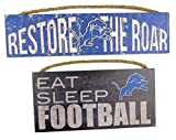 Detroit Lions Worlds best dad, Wall plaques, set of 2 for dad's birthday.