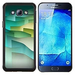 TECHCASE---Cubierta de la caja de protección para la piel dura ** Samsung Galaxy A8 ( A8000 ) ** --Olas de tono pastel minimalista