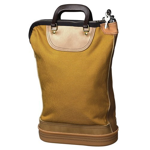 PM Company Regulation Post Office Security Mail Bag, Zipper Lock, Gold, Brown (04644) by PM Company ()