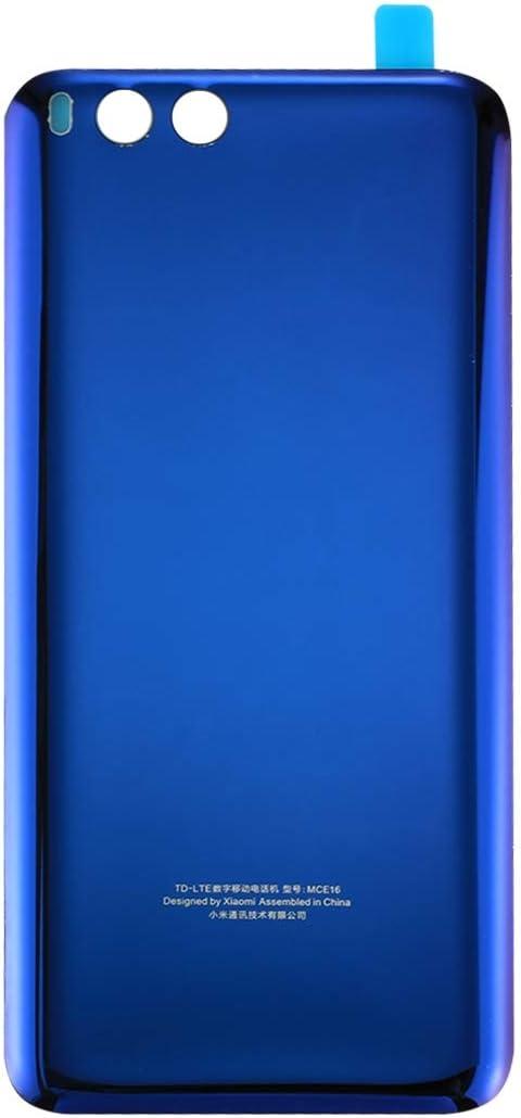 Reemplazo dañado Vieja Cubierta Trasera Reemplazo de la Nueva batería de Cristal de Mi6 Smartphone Nuevo Caso de la contraportada para Xiaomi Mi 6, Color Blanco Negro/Azul (Color : Blue)