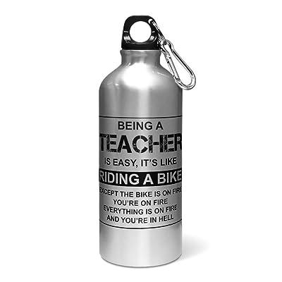 400ml Being A Teacher est facile d'équitation C'est comme un vélo en aluminium Bouteille d'eau/cantine