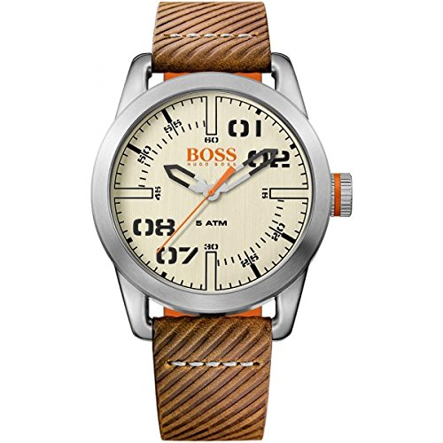 Hugo Boss 1513418 Oslo Brown Leather Mens Watch