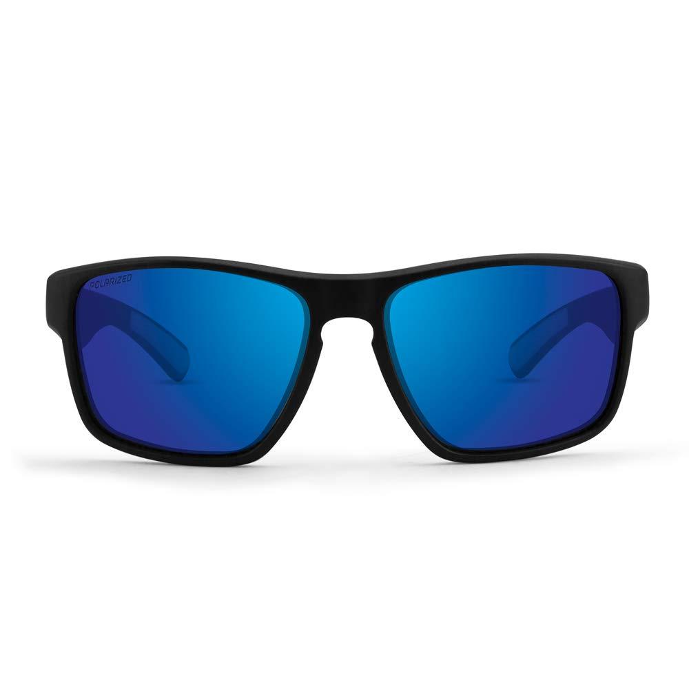 0c69efb8f53 Amazon.com  2 Pair Golf Sport Sunglasses Epoch Charlie Black w Blue Mirror  Polarized Lens   Green w Gold mirror Polarized Lens  Clothing