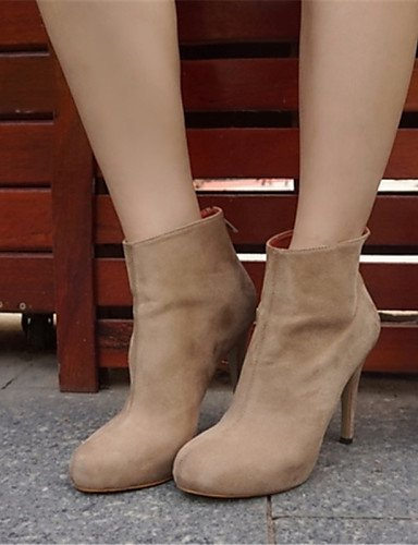 Cn39 Stiletto Mujer Botas Tacón Uk6 us5 Cn35 Punta Brown Semicuero 5 Casual Zapatos 5 Gray us8 Eu36 Uk3 Negro De Marrón Xzz Redonda Gris Eu39 qEfwTIaW