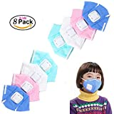 Cute Kids Adult Anti Pollution Mask Unisex Outdoor Protection N95 Non-woven Fabric Dust Mouth Mask 4 Layer Valve Filter