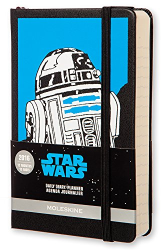 Moleskine 2016 Star Wars Limited Edition Daily Planner, 12 Month, Pocket, Black, Hard Cover (3.5 x 5.5)