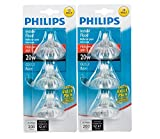 Philips 415687 Indoor Flood 20-Watt MR16 12-Volt Light Bulbs 3Pk x2