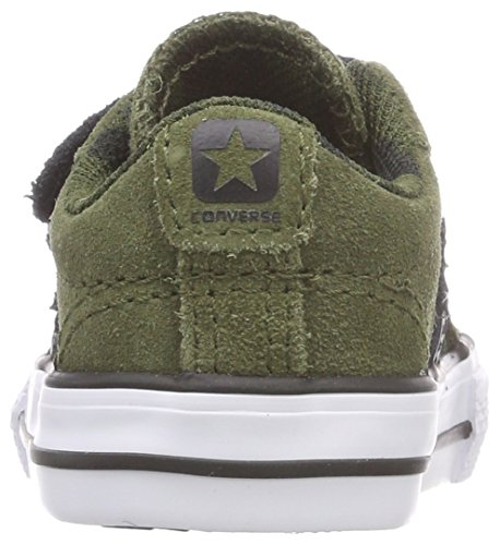 Converse Star Player Ev 2v OX Herbal/White/Black, Zapatillas Unisex Niños Grün (Herbal/White/Black)