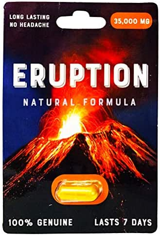 Eruption 35000 mg Natural Formula Male Sexual Enhancement Pill 100% Genuine (6)