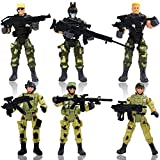 YIJIAOYUN 6 Pcs Large Action Figure Army Soldiers Toy with Weapon / Military Figures Playsets