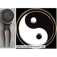 Yin-Yang Golf Ball Marker & Nickel Slick Divot Tool