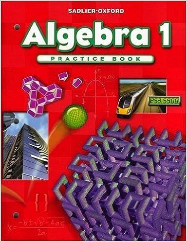 Progress in Mathematics Algebra 1 Practice Book
