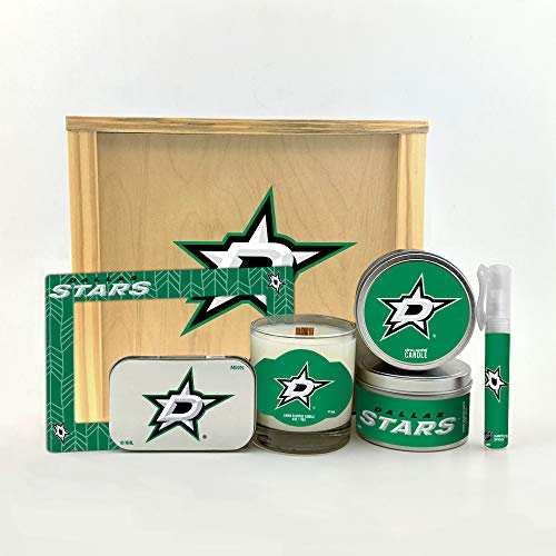 Worthy Promo NHL Dallas Stars Gifts Home Décor Gift Box for Women and Men Valentine's Day, Mother's & Father's Day, Easter, Birthday, Christmas Dallas Stars Mini Hockey Helmet