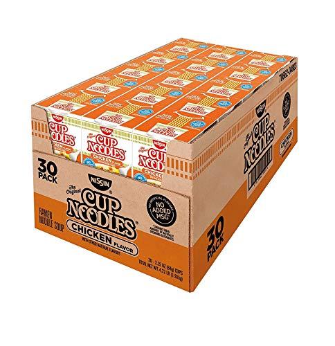 (Nissin Cup Noodles, Chicken Flavor 2.25 oz ea, 30 ct. A1)