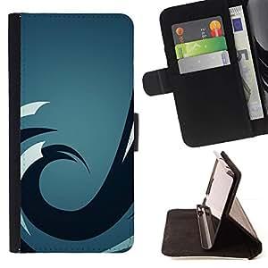 Momo Phone Case / Flip Funda de Cuero Case Cover - Ola azul;;;;;;;; - Samsung Galaxy S6 Active G890A