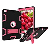 New iPad 2017 9.7 Case - Fisel Three Layer PC & Silicon High Impact Hybrid Drop Proof Armour Defensive Full Body Protective Case With Kickstand for All-New iPad 9.7 Inch 2017 Model Tablet
