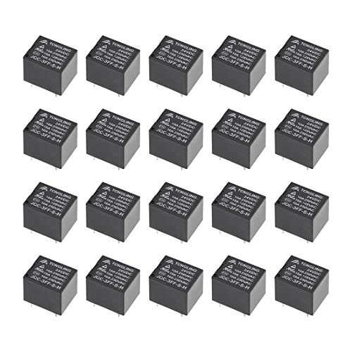 uxcell 20 Pcs JQC-3FF-S-H DC 24V Coil SPST 4 Pin PCB Electromagnetic Power Relay