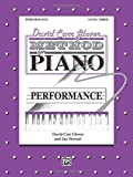 img - for David Carr Glover Method for Piano Performance: Level 3 book / textbook / text book