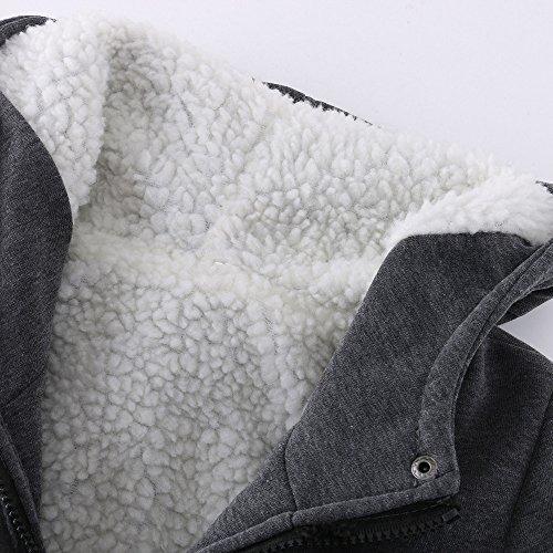 Coat Warm Dark Trench Warm Slim Windbreaker Outwear Gray Wool Keep OYSOHE Jacket Women Long Clearance xzOqnXHqA