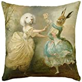 Adorabella ''The Dance'' Pantomime Animals Collection, soft touch Velvet printed pillow, 17'' square throw pillow, home decor scatter cushion complete with pillow insert (filler) made in Australia.
