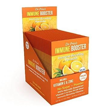 Immune Booster Natural Vitamin C Powder Zinc Chromium Amino Acids Bcaa New Orange