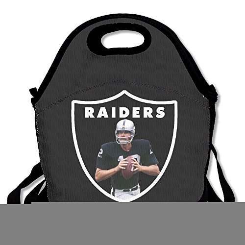 Okland Raiders Ken Stabler Lunch Box Bag For Kids And Adult,lunch Tote Lunch Holder With Adjustable Strap For Men Women Boys Girls,This Design For Portable, Oblique Cross,double Shoulder
