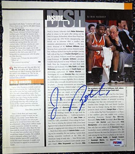 Jim Boeheim Autographed 9x10.5 Magazine Page Photo Syracuse Orange #S64950 PSA/DNA Certified Autographed College Magazines