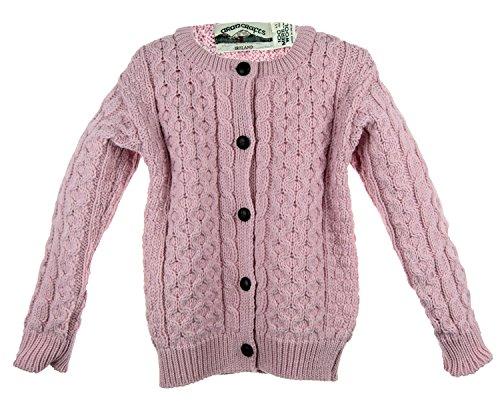 Irish Merino Wool Aran Children's Button Sweater by The Irish Store - Irish Gifts from Ireland (Image #2)