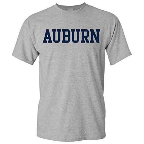 Auburn Tigers Basic Block T Shirt   Large   Sport Grey