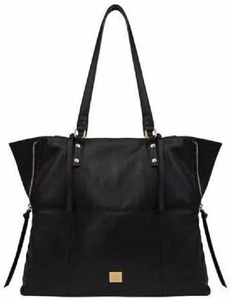 Amazon.com  Kooba Leather Tote (Black)  Clothing 6a8f08ca272ef