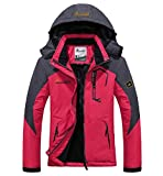 Ausom Fashion Outdoor Unisex Couple Warm Windproof Cotton Plus-Size Ski Mountaineering Jacket