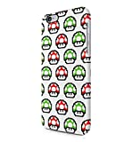 Super Mario Green & Red Mushrooms Pattern Hard Plastic Snap-On Case Cover For iPhone 6 Plus / iPhone 6s Plus